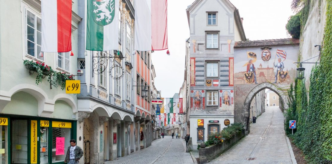 Street in Steyr, Austria.
